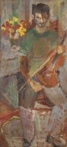 Stergios Loustas, 2007. oil on hardboard, 156x70